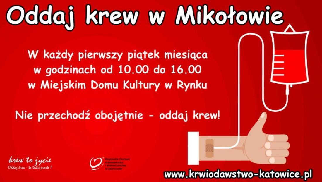 Oddaj krew w Mikołowie