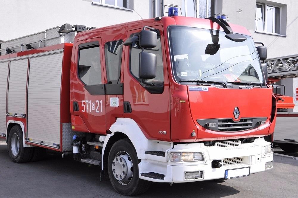 Pożar mieszkania przy ulicy Jana Bluszcza