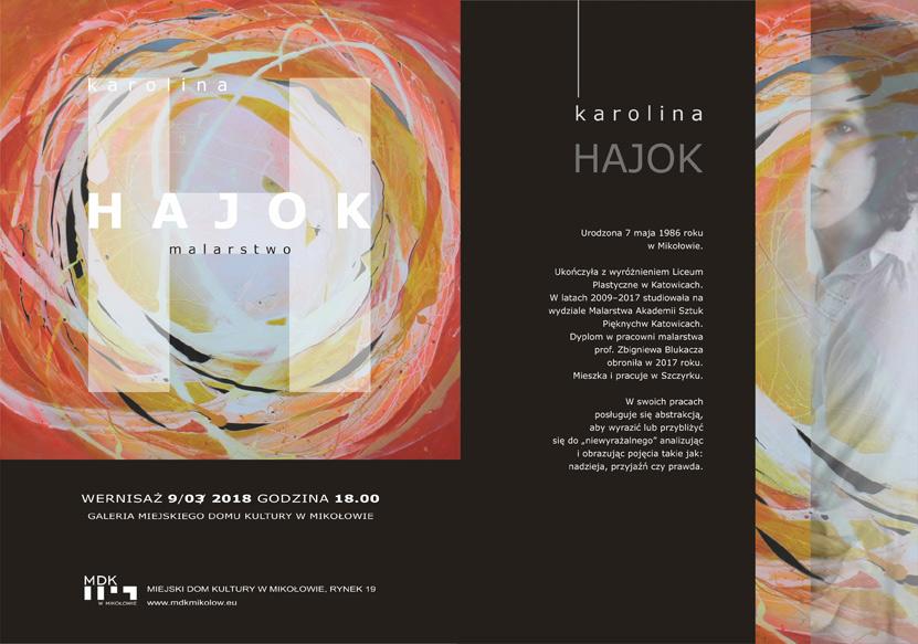 Karolina Hajok - otwarcie wystawy prac