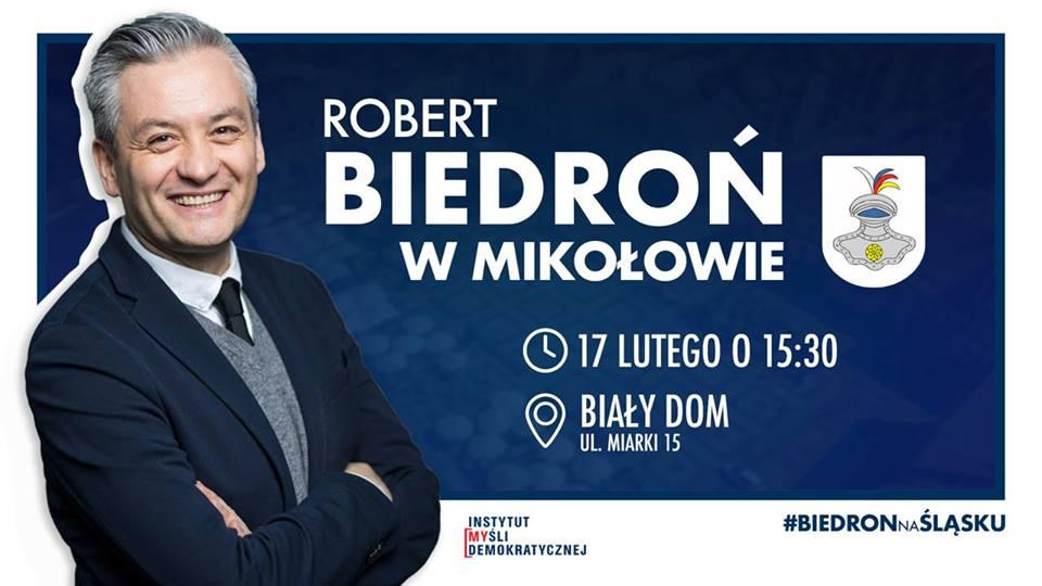 Robert Biedroń w Mikołowie