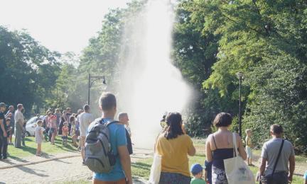 [FOTO] Ogień i woda w Śląskim Ogrodzie Botanicznym