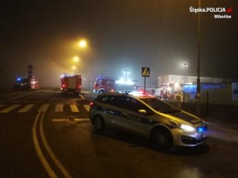 Pożar hal magazynowych w Mikołowie