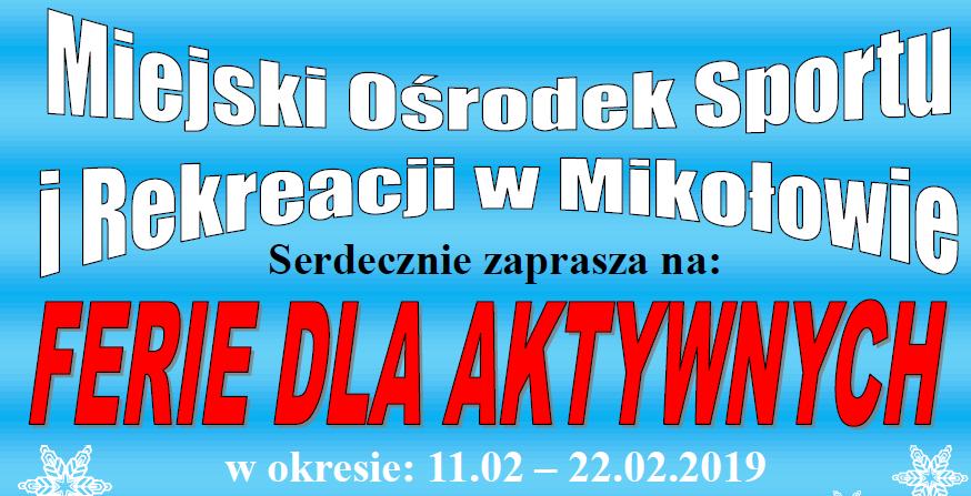 Ferie dla aktywnych w MOSiR Mikołów. Zapisz swoje dziecko!