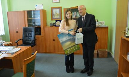 Starosta i burmistrz na spotkaniu z Polką z Kazachstanu