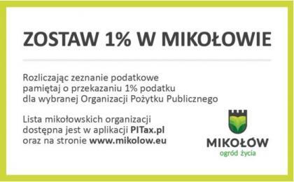 Zostaw 1% podatku w Mikołowie