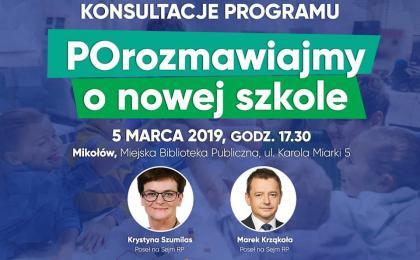 Mikołów: Debata o edukacji w MBP Mikołów. Gościem Krystyna Szumilas