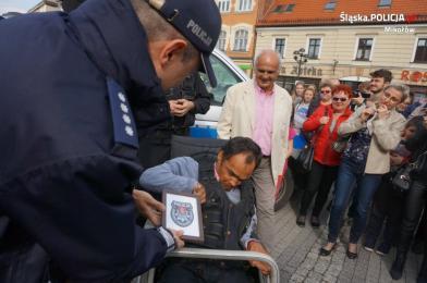 Policjanci z Mikołowa spełnili marzenie Łukasza