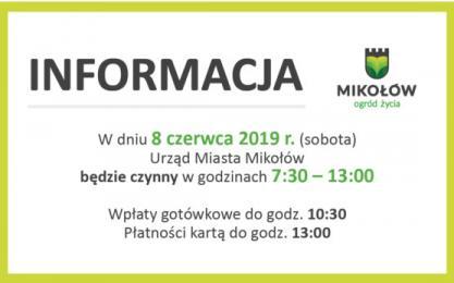 UM w Mikołowie będzie czynny w najbliższą sobotę