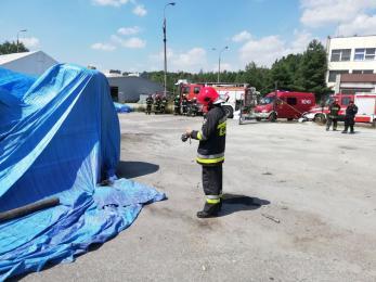 Strażacy ponownie zabezpieczyli nieznane odpady na Kościuszki