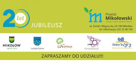 20 lat Powiatu Mikołowskiego. Obchody jubileuszu już 13 września!