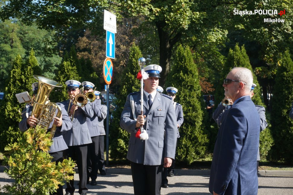 Policjanci na XX-leciu powiatu mikołowskiego