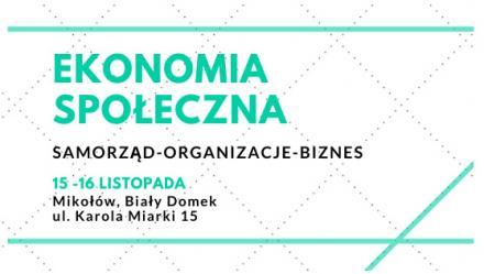 Konferencja dotycząca ekonomii społecznej